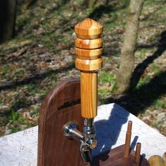 Hand Turned Crabapple Beer Tap Handle from BlackWater Workshops by BlackWaterWorkshops on Etsy