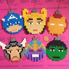 The Avengers Christmas Pixel Baubles