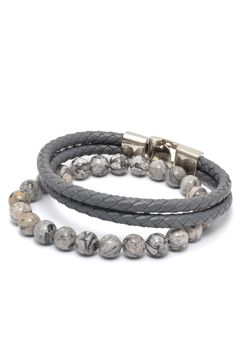 Marble and Leather Bracelet Pack in Gray – TAG TWENTY TWO
