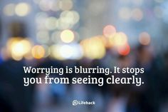 Everything happens for a reason, so don't stress; Don't worry.