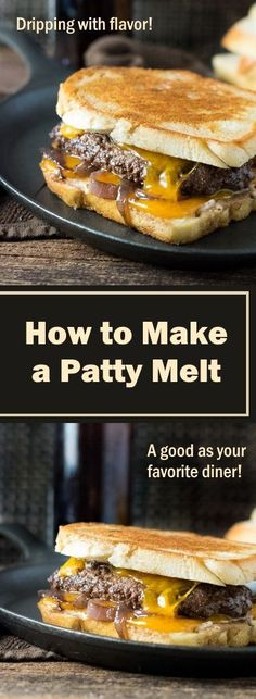 to Make a Patty Melt How to Make a Patty Melt - recipe. Try it on Martin's Old-Fashioned Real Butter Bread for the perfect comfort food!How to Make a Patty Melt - recipe. Try it on Martin's Old-Fashioned Real Butter Bread for the perfect comfort food! Hamburgers, Cheeseburgers, Patty Melt Recipe, Tacos, Hamburger Recipes, Hamburger Patties Recipe, Beef Dishes, Calories, Soup And Sandwich
