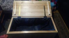 Wooden Chest, Old Jeans, My Works, Storage Chest, Furniture, Home Decor, Decoration Home, Room Decor, Home Furnishings