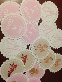 Forest Friends Girls Table Confetti by CustomParty4U on Etsy