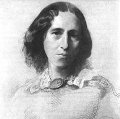 Blessed is the man who, having nothing to say, abstains from giving us wordy evidence of the fact. George Eliot.  Portrait by Samuel Laurence
