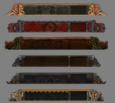 Bitmap & Graphic game user interface gui ui | Create your own roleplaying game material w/ RPG Bard: www.rpgbard.com | Writing inspiration for Dungeons and Dragons DND D&D Pathfinder PFRPG Warhammer 40k Star Wars Shadowrun Call of Cthulhu Lord of the Rings LoTR + d20 fantasy science fiction scifi horror design | Not Trusty Sword art: click artwork for source
