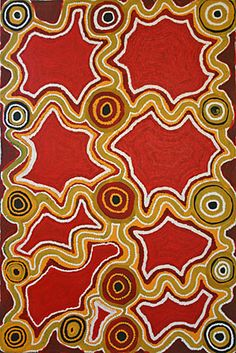 Fred Tjakamarra / Water Dreaming 1998   120 x 80 cm