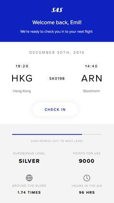 Scandinavian Airlines App Concept