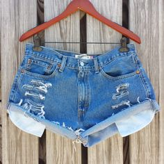Levi's 505 HIGH WAISTED Denim Shorts  High by TomieHarleneVintage, $20.99 #levis #4thofjuly #summer