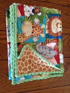 Baby jungle animals with leopard print backing