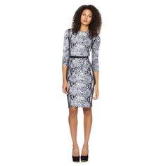 Designer grey snake print dress at debenhams.com