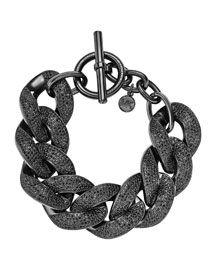 Y272P Michael Kors Pave Curb-Chain Bracelet, Black