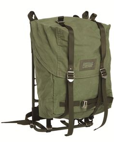 Swedish LK35 rucksack with steel external frame. Issued until the early 1990's.