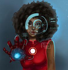 "deceiverofgods: ""Really digging Riri Williams lately. Iron Man Girl, Iron Man Fan Art, Riri Williams Iron Man, Iron Heart Marvel, Black Comics, Arte Cyberpunk, Marvel Fan Art, Black Women Art, Black Art"