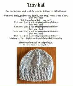 Ravelry: Roman Stitch Baby Hat pattern by marianna mel - Slideit. Baby Cardigan Knitting Pattern Free, Knitting Paterns, Baby Hats Knitting, Free Knitting, Knitted Doll Patterns, Baby Hat Patterns, Knitted Dolls, Knitted Hats, Newborn Knit Hat