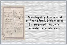 "Read more on the GenealogyBank blog: ""Mary's Musings: Humorous Observations about Excited Genealogists."" http://blog.genealogybank.com/marys-musings-humorous-observations-about-excited-genealogists.html"