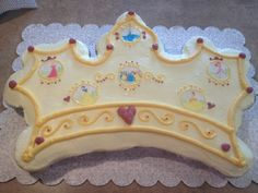 Princess tiara-shaped pull apart cupcake cake I made for a friend's little girl