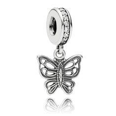 b65f39810 #Pandora #Butterfly Pendant #Charm £35 Pandora Butterfly Charm, Pandora  Jewelry,