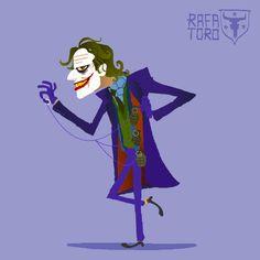 Rafa Toro Animates The Movie Versions Of Batmans Foes #joker #art