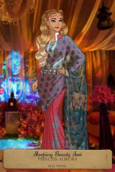 Sleeping Beauty Sari ~ by NobodysSavior ~ created using the Sari doll maker | DollDivine.com