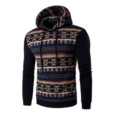 National Style 2017 New Hoodies Men Hombre Hip Hop Male Brand Hoodie Casual Patchwork Sweatshirt Men Slim Fit sudaderas hombre