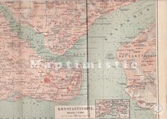 1895 Constantinople and the Bosphorus Strait by Maptimistic