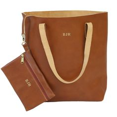 Jon Hart Design Everyday Tote Shown in Blonde Leather