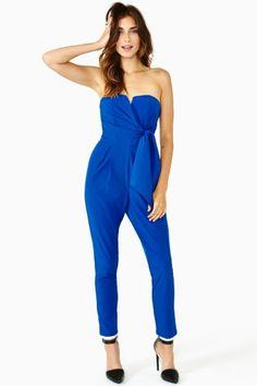7191040c6ae Jaden Wrap Jumpsuit - Blue Wrap Jumpsuit