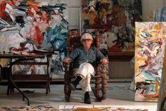 Willem de Kooning in his East Hampton studio, New York, 1977.