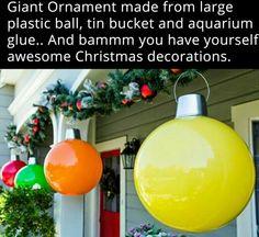 Giant plastic Ornament