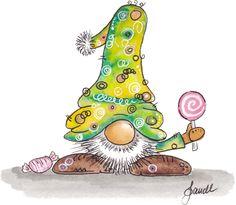 Home - Painting Media Christmas Rock, Christmas Gnome, Christmas Drawing, Christmas Paintings, Illustration Noel, Watercolor Illustration, Tatty Teddy, Scandinavian Gnomes, Happy Paintings