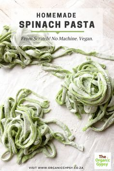 So, I received my veggie box and had a ton of spinach to use. So, I made these beautiful spinach noodles from scratch.  They taste so fresh and light. Definitely better than any store-bought pasta.  And the most surprising thing? It only had TWO INGREDIENTS. And I had no machine or rolling pin. Hope you try it!  Homemade spinach pasta from scratch Spinach Noodles, Spinach Pasta, Pasta Noodles, Healthy Grilling, Healthy Cooking, Vegetarian Grilling, What's Cooking, Healthy Tips, Healthy Eating