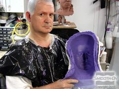 In this body casting demonstration, Body Double® silicone is used to make a full head mold Special Effects Makeup Artist, Body Cast, Human Body, It Cast, Costume Ideas, Garden, Diy, Crafting, Sculpture
