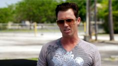 """So, how are you gonna handle the sale? Do you got someone who can sell the boat? What's the timeline thing for sort of this… Are you gonna advertise on the World Wide Web?"" [Michael Westen]   Pictured: Michael Westen (Jeffrey Donovan)"