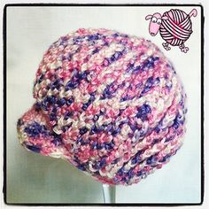 Crochet Newsboy Ribbed Baby Beanie - Dearest Debi Patterns - Now with Video Tutorial