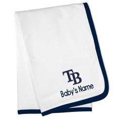 Urban farmhouse tampa baseball personalized gifts baby kids tampa bay rays personalized baby blanket white negle Images