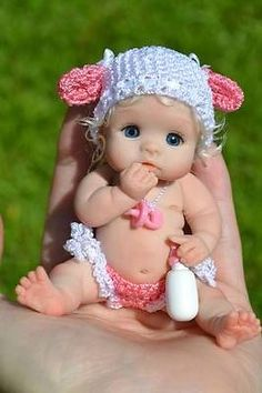 *POLYMER CLAY ~ Original-Art-OOAK-baby-doll-girl-3-June-by-Yulia-Shaver