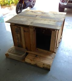 Projects, pallet projects, pallet dog house, dog runs, pallet des