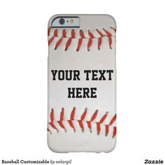 Baseball Customizable Barely There iPhone 6 Case