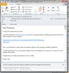 Should I Help This SEO Spammer or Should He Suffer? How To Remove, How To Get, Internet Marketing, Seo, Messages, Link, Text Posts