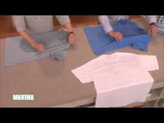 """Martha shows how to fold a basic T-shirt, one of the essential homekeeping how-tos in her More Things Everyone Should Know"""" series. T Shirt Folding, Spring Cleaning Checklist, Laundry Hacks, Homekeeping, Martha Stewart, Helpful Hints, Handy Tips, Organization Hacks, Getting Organized"""