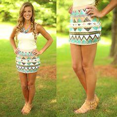 Tres Chic Tribal Skirt