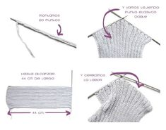 Cómo Hacer Un Cuello De Lana Paso a Paso Cord Organization, Knit Cowl, Crochet Bikini, Weaving, Knitting, Swimwear, Kids, Crafts, Stitches