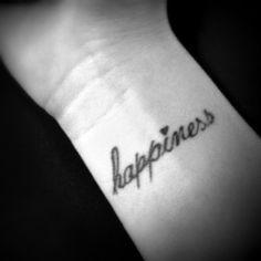 happiness wrist tattoo