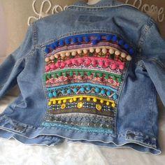 Diy Ropa Reciclada Chaquetas Ideas For 2019 Denim Fashion, Boho Fashion, Umgestaltete Shirts, Mode Hippie, Estilo Hippie, Diy Vetement, Look Boho, Denim Ideas, Denim And Lace