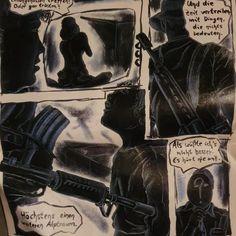 Grafische Geschichten, 1995 Tusche und Buntstift auf Karton  Neu auf derherrgott.de/geschichten  #art #zeichnung #illu #buntstift #scribble #story #geschichte #sw # #bw # #grafik #tusche Scribble, Darth Vader, Fictional Characters, Colouring Pencils, Paper Board, History, Doodles, Fantasy Characters