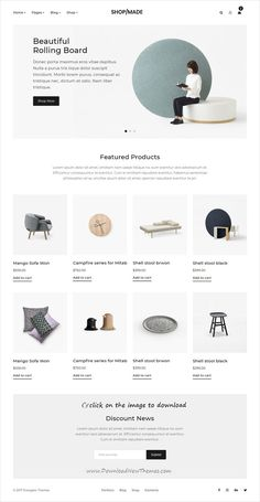 Buy Shop Made - A Modern, Minimalist eCommerce Template by energeticthemes on ThemeForest. Shop Made template for your modern minimalist eCommerce online Store. Shop Made is a high performance template it's h. Webdesign Layouts, Minimal Web Design, Clean Design, Responsive Template, Mobile Responsive, Ecommerce Website Design, Ecommerce Websites, Newsletter Design, Ui Design Inspiration