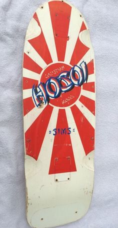 1982 Christian Hosoi Sims Novato Rara Vintage Skateboard Deck Rising Sun | eBay