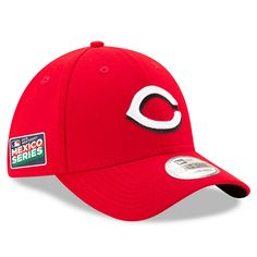 buy popular e6814 92030 Men s Cincinnati Reds New Era Red 2019 Mexico Series 39THIRTY Flex Hat,  Your Price