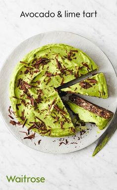 The Waitrose recipe for avocado and lime tart is a great no-bake dish that's also dairy free! Don't forget to top with the all-important chocolate shards for serving!