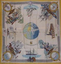 Hermès Le tour du monde en 80 jourspar Ledoux Silk scarf squarre